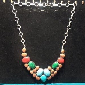 Jewelry - Chunky Retro Multi colored Necklace #29A